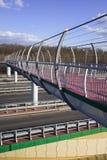 Footbridge on Motorway Stock Image