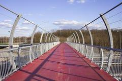 Footbridge on Motorway Royalty Free Stock Photos