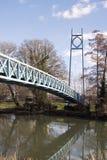 Footbridge nad Rzecznym Stour przy Blandford Fotografia Royalty Free