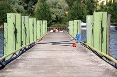 footbridge nad rzeką obrazy royalty free