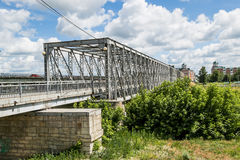 Footbridge nad rzeką Zdjęcie Royalty Free
