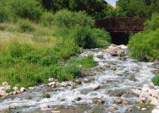 Footbridge nad San Antonio rzeką Zdjęcia Royalty Free