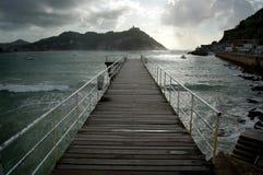 Footbridge of  Nautical Club i Royalty Free Stock Images