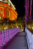Footbridge at Night Royalty Free Stock Photo