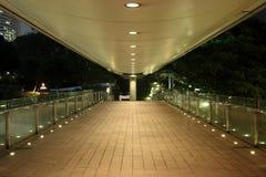 Footbridge at night stock photos