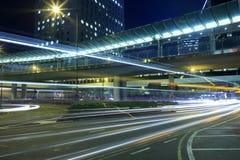 Footbridge night sight Royalty Free Stock Image