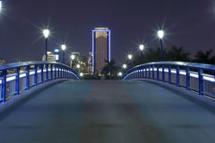 Footbridge night sight Royalty Free Stock Image