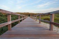Free Footbridge On A Beach In Belgium Stock Images - 168875914