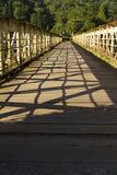 Footbridge once a railway bridge – the Wire Bridge at Tintern. Royalty Free Stock Photo