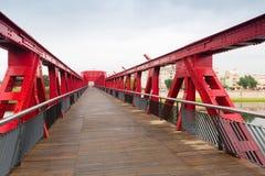 Footbridge over Ebre  in Tortosa Stock Image