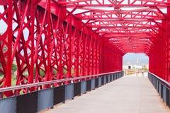 Footbridge over Ebre in Tortosa, Spain Royalty Free Stock Photo