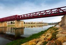Footbridge over Ebre in Tortosa, Spain Stock Photography
