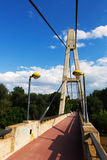 Footbridge over Ebro. Logrono Royalty Free Stock Image