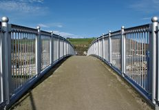 Footbridge over Glenarm River. Royalty Free Stock Image