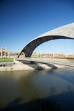 Footbridge over Manzanares river Stock Photo