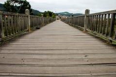 Footbridge. Over a marsh in Baiona, Spain Stock Photo