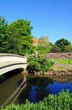 Footbridge over River Anker, Tamworth. Stock Photography