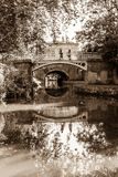 Footbridge over river Avon, Park at Bath Royalty Free Stock Images