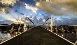 Footbridge over river Stock Photography