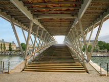 Footbridge over the River Seine in Paris Stock Photo
