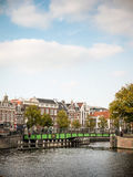 Footbridge over the River Spaarne, Haarlem, Netherlands Stock Image
