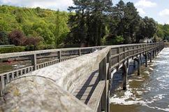 Footbridge over the River Thames. Footbridge over to Marsh Locks at Henley-on-Thames Royalty Free Stock Images