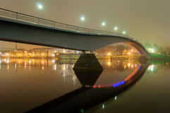 Footbridge over the River Volkhov in Veliky Novgorod Stock Photography