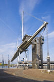 Footbridge over royal victoria dock by excel Stock Photography