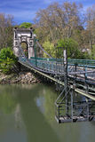 Footbridge over saone river Stock Photo