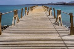 Footbridge over the sea Royalty Free Stock Images