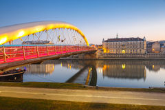 Footbridge over Vistula river in Krakow, Poland Stock Photography