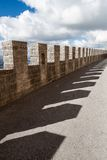 Footbridge over the walls Royalty Free Stock Photography