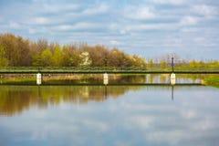Footbridge over water Stock Image