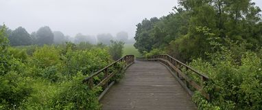 Footbridge Panorama Royalty Free Stock Photos