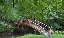 Footbridge in the park Royalty Free Stock Photography