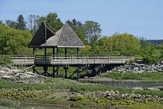 Footbridge przy Lotniczym parkiem w Courtenay fotografia royalty free
