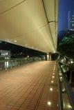 Footbridge przy noc Zdjęcie Royalty Free