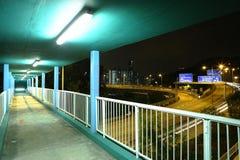 Footbridge przy noc Zdjęcia Royalty Free