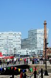Footbridge and Pumphouse, Liverpool. Stock Photos
