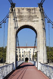 Footbridge on Rhone river Royalty Free Stock Photos