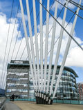 Footbridge Salford Quays, Manchester Stock Image