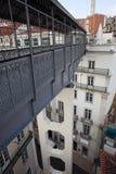 Footbridge of the Santa Justa Lift in Lisbon Stock Image
