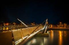 Seán O`Casey Bridge in Dublin stock photos