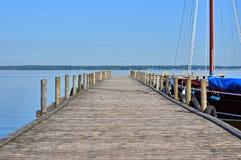 Footbridge by the sea Stock Photo