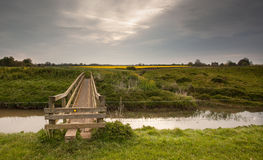 Footbridge. Royalty Free Stock Photo