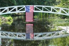 Footbridge in Somesville, Mount Desert Island, Maine Royalty Free Stock Image