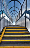 Footbridge stairs pedestrian flyover Stock Photo