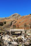 Footbridge Stickle Ghyll, Great Langdale, Cumbria Royalty Free Stock Photo