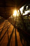 Footbridge sunrise A Royalty Free Stock Photography