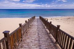 Footbridge to the beach Royalty Free Stock Image